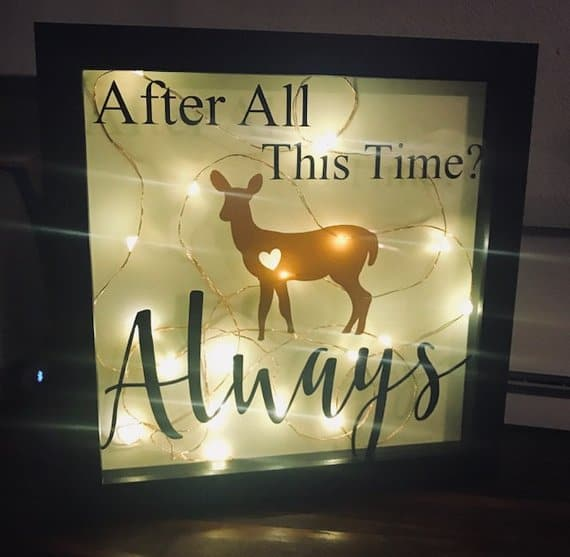 After All This Time? Always. Shadow box. (Image: Sweet Marleys)