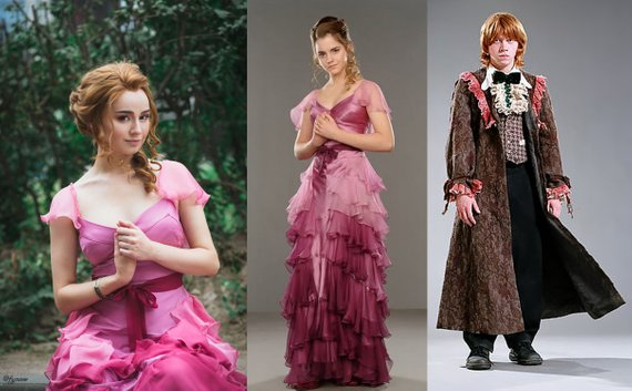 Hermione Yule Ball Gown and Ron Dress Robes (Image: Phoenix Cardinal)