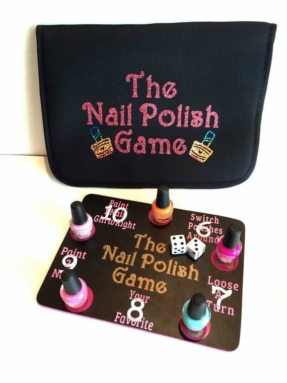 The Nail Polish Game. A fun spa party activity. (Image: PictureSweet)