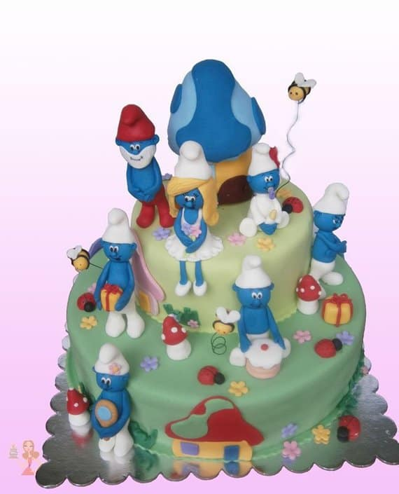 Smurfs Cake Topper. Baby shower ideas. Memento Cake Toppers