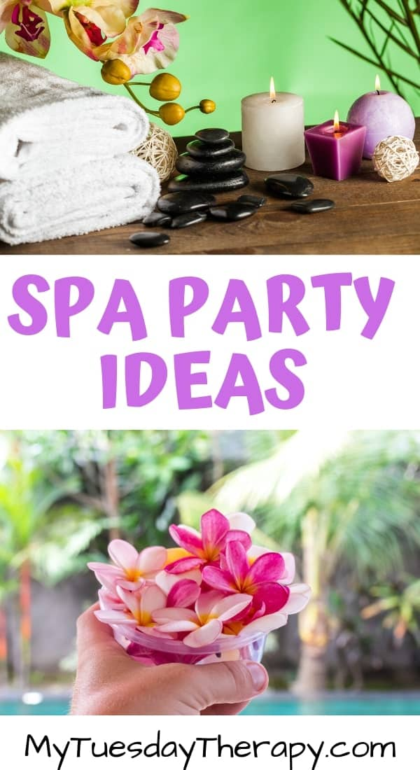 Spa Party Ideas For Girls. Spa Color Themes.