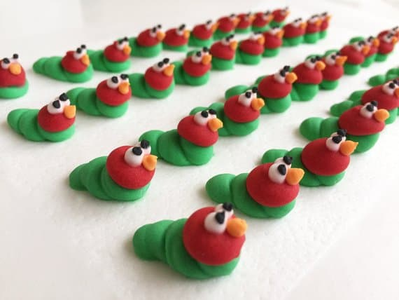 Very Hungry Caterpillar Baby Shower. Baby shower cake topper. (HollyCupcakes)