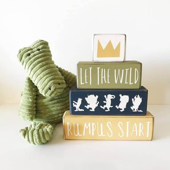 "Where The Wild Things Are Baby Shower Centerpiece. ""Let the wild rumpus start"" (poplarstreetcottage)"