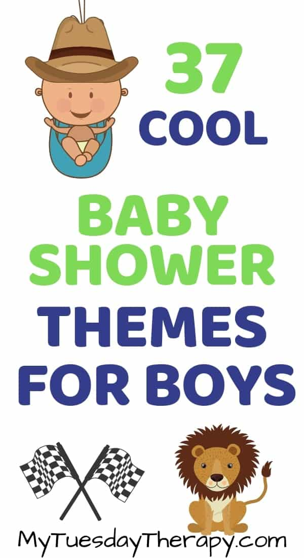 Unique Baby Shower Themes for Boys. Modern baby shower themes.