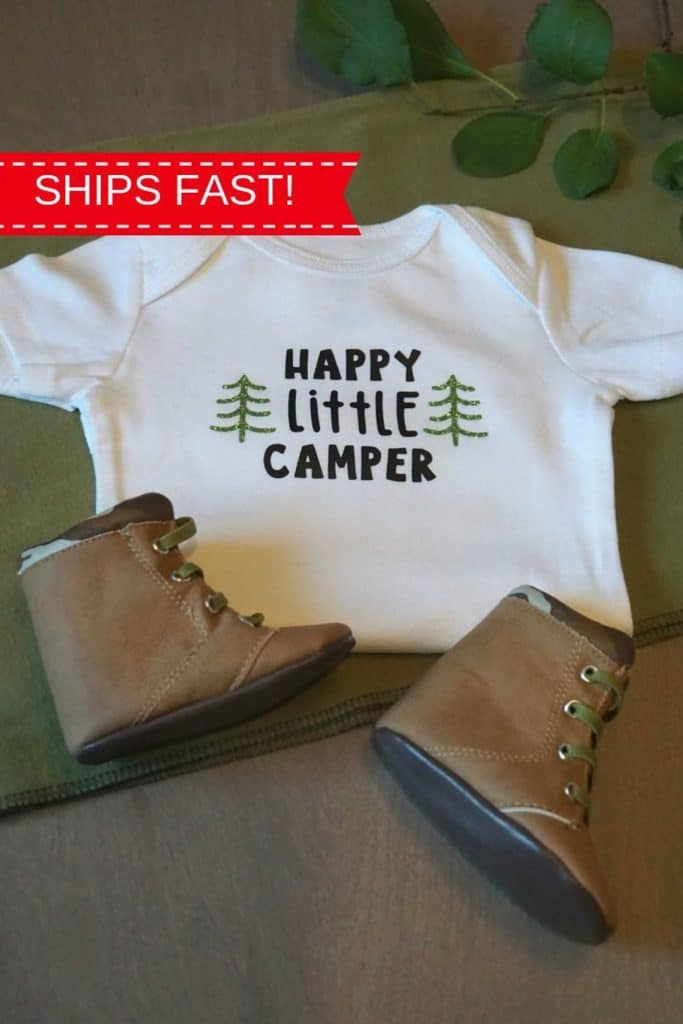 Happy Little Camper (fabilovesgracie) Baby Shower Gift Idea.