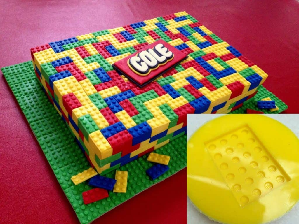 Lego Cake Fondant Mold For Baby Shower (cakecouturedesigner).