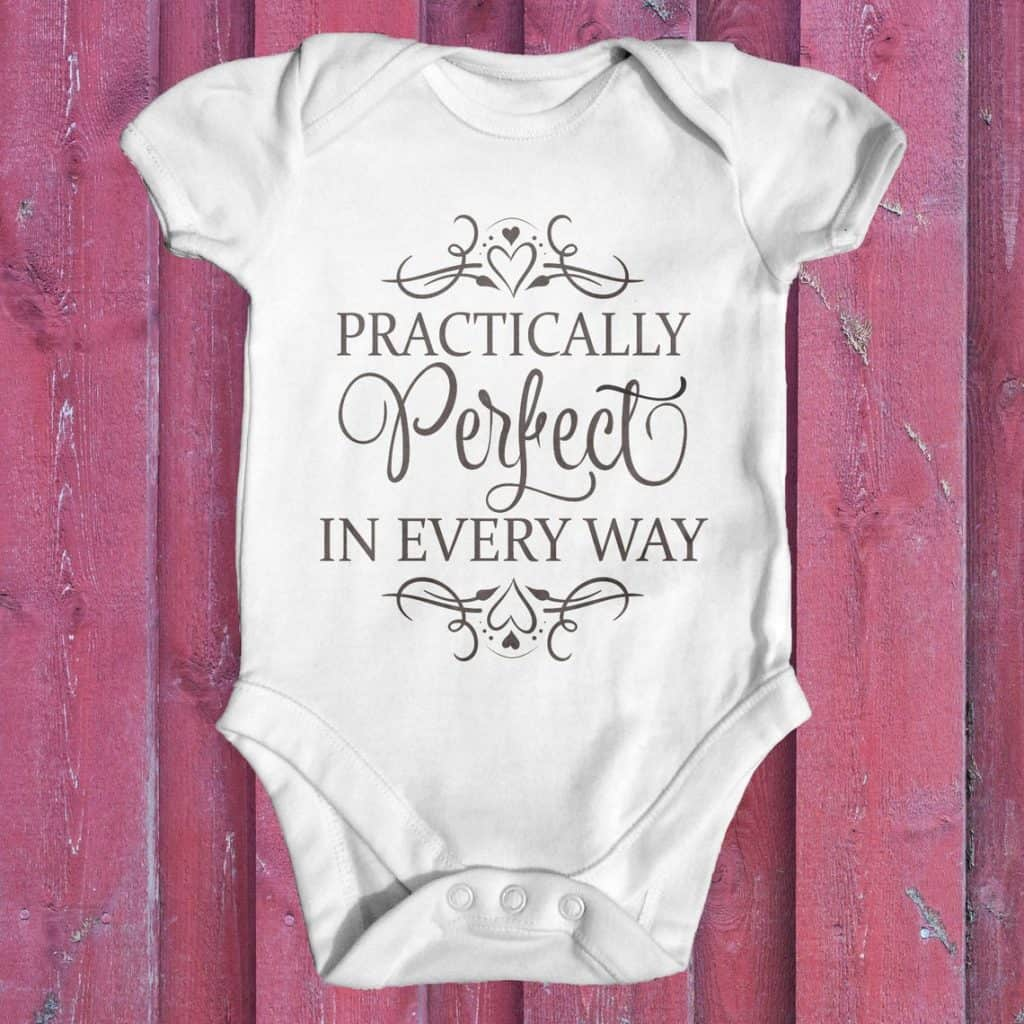 Practically Perfect in Every Way Onesie (tiney tearaways)