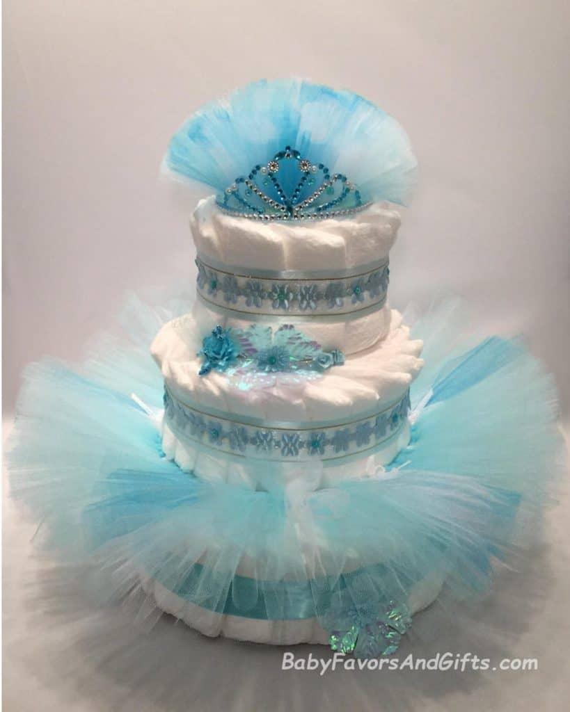 Ballerina - Frozen Diaper Cake (baby favors) Tutu diaper cake for a future ballerina.