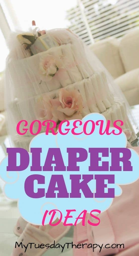 Gorgeous Diaper Cake Ideas. Learn how to make a diaper cake.