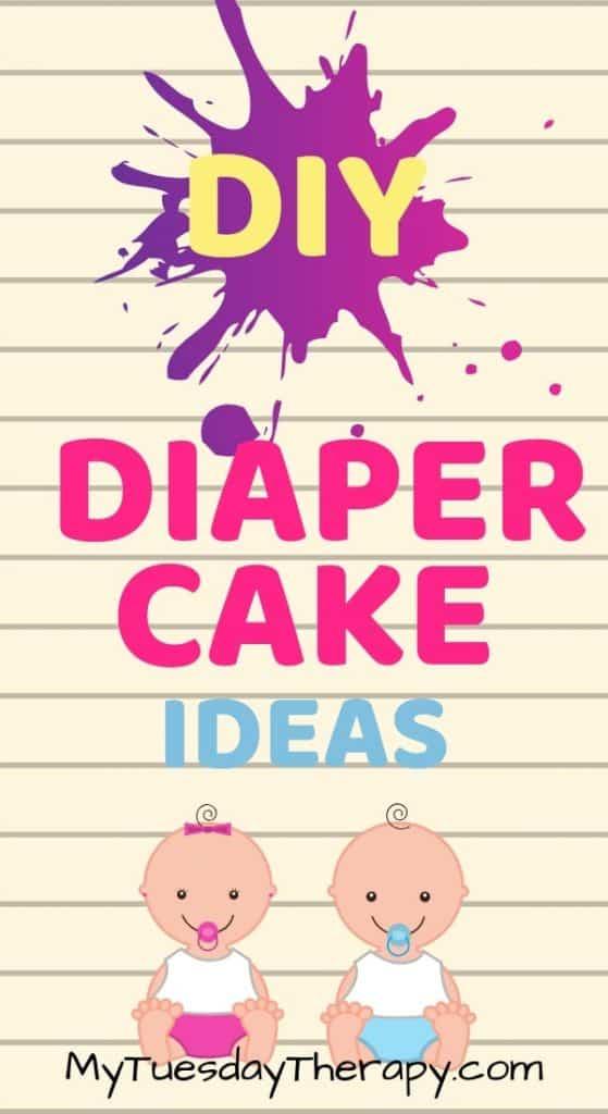 DIY Diaper Cake Ideas for Girls and Boys