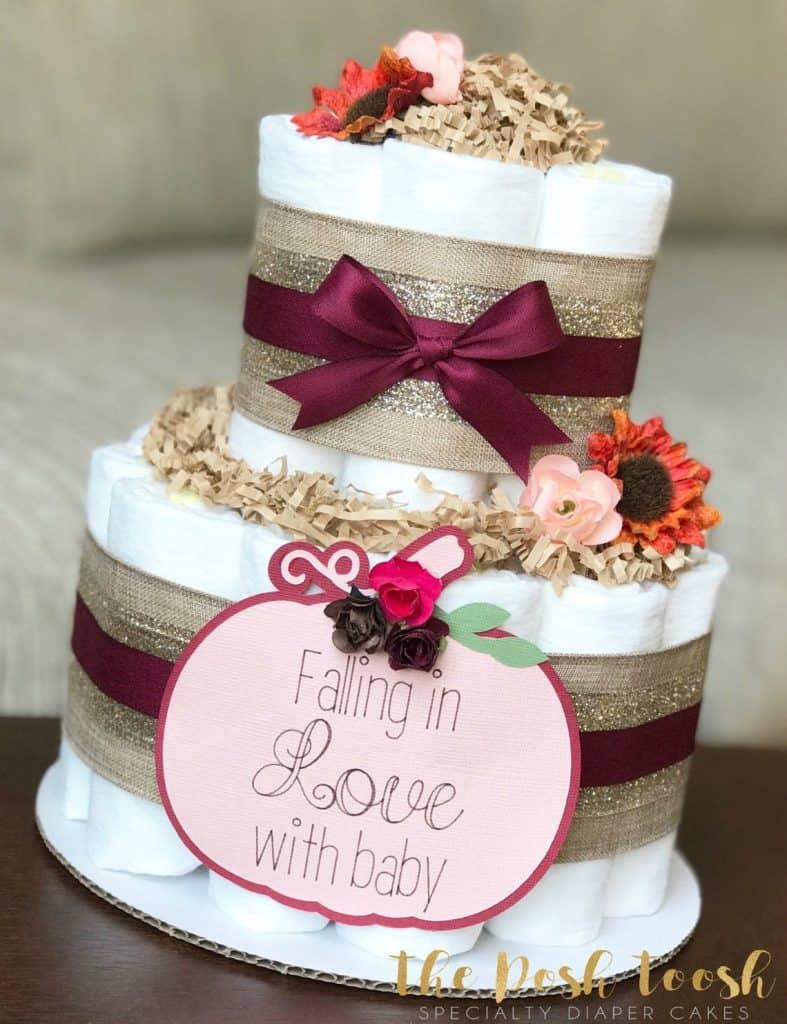 Fall Baby Shower. Fall Diaper Cake (the posh toosh)