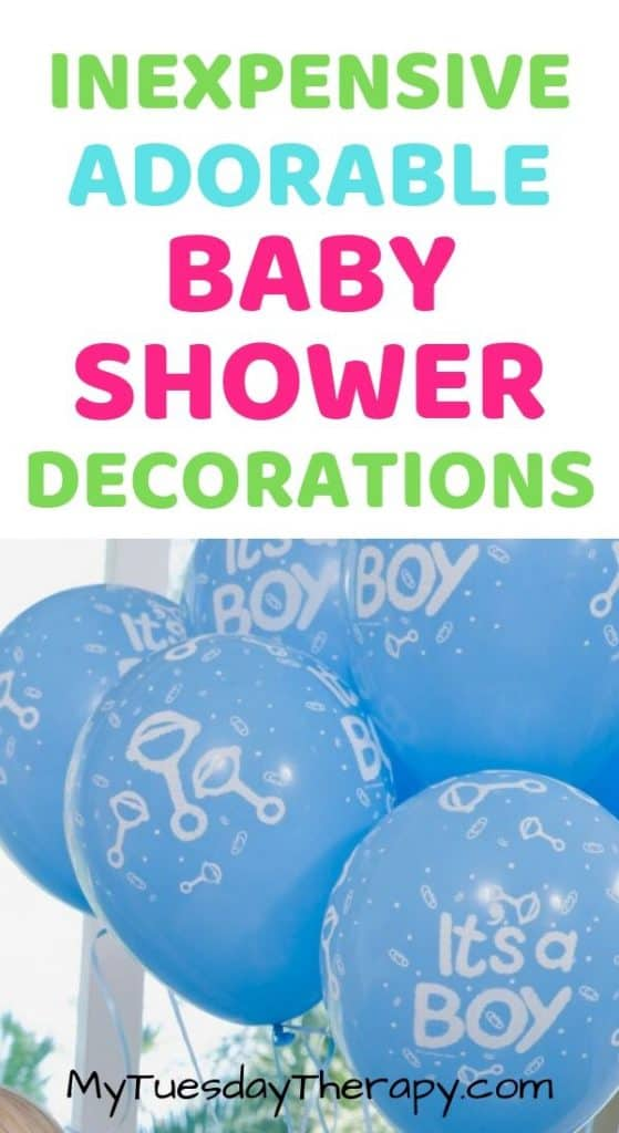 Inexpensive Baby Shower Decorations for Girl or Boy Baby