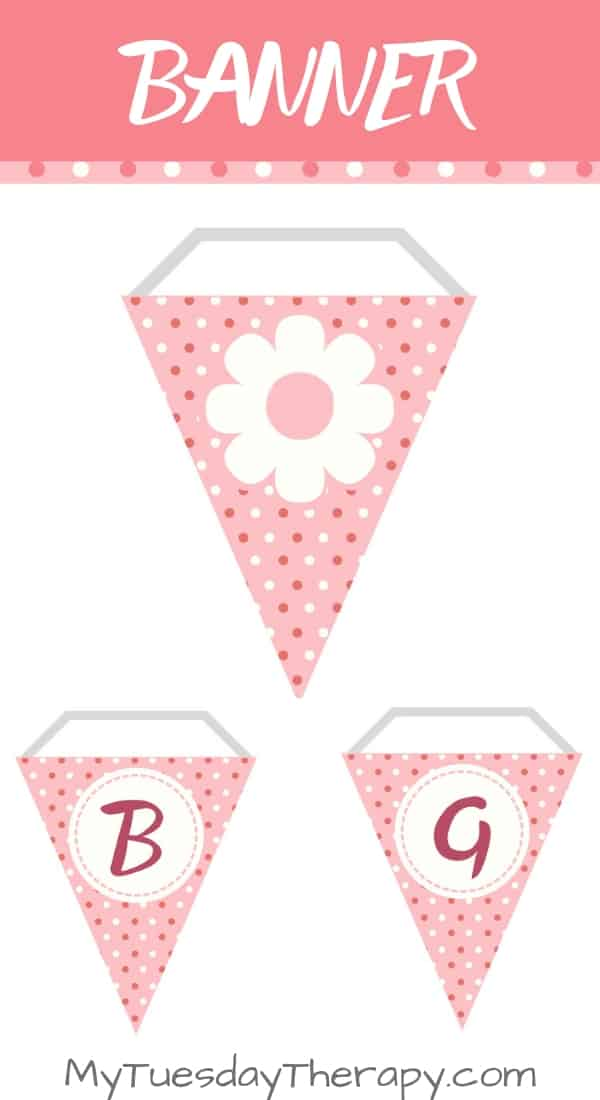 photo about Baby Shower Banner Printable named Its A Female - Red Flower Kid Shower Printables