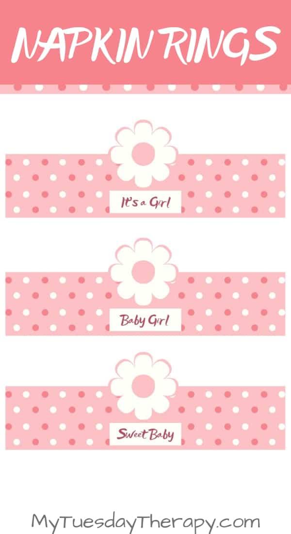 Baby Shower Napkin Ring Printable.