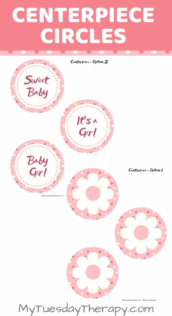 Baby Shower Centerpieces for Girls DIY