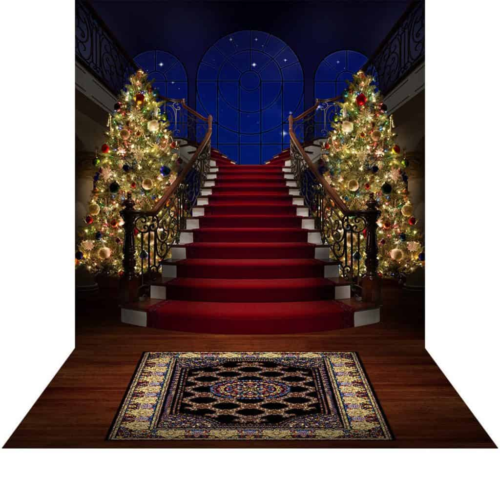 Hogwarts Yuleball Staircase Backdrop (albabackgrounds)