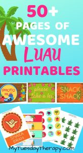 Luau Party Decorations DIY. Luau party printables.