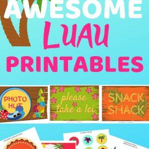 Luau Party Decorations DIY. Luau party printables.