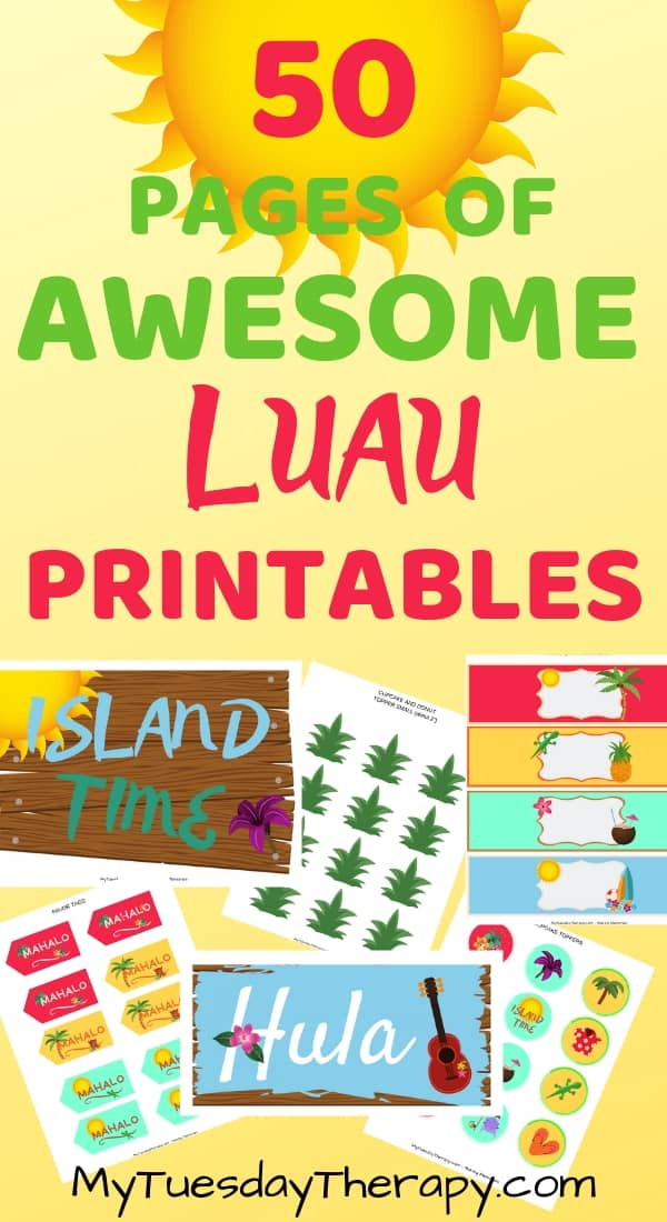 picture regarding Printable Luau Party Games called Aloha, It Is Season in the direction of Consist of a Luau Social gathering!