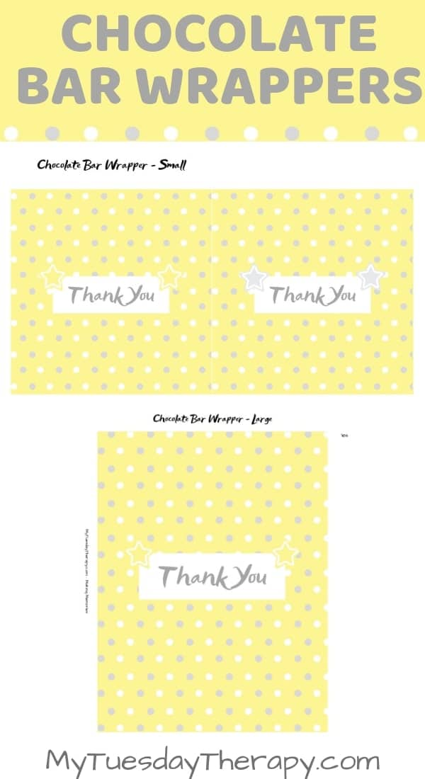 Baby Shower Chocolate Wrapper and Favor Tag. Baby shower ideas for girls.