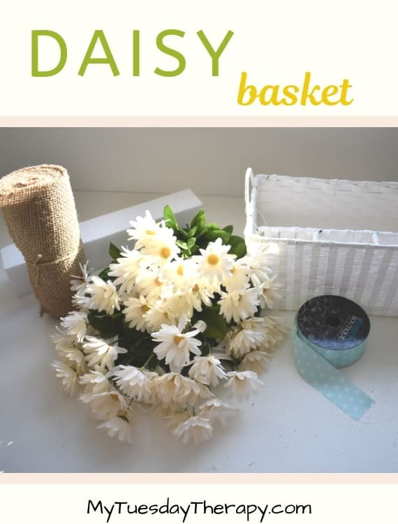 Spring Decoration For The Home - Daisy Basket DIY.