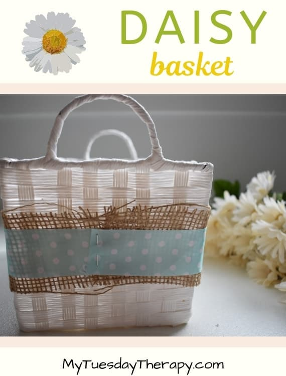 Spring Decorations. DIY Daisy Basket.