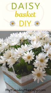 Daisy Basket DIY. Spring Decorations.