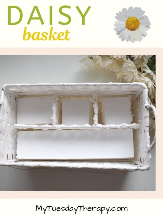 Daisy Decor DIY. Daisy Basket.