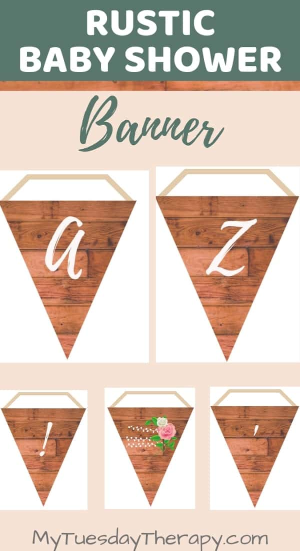 Rustic Baby Shower Decorations.