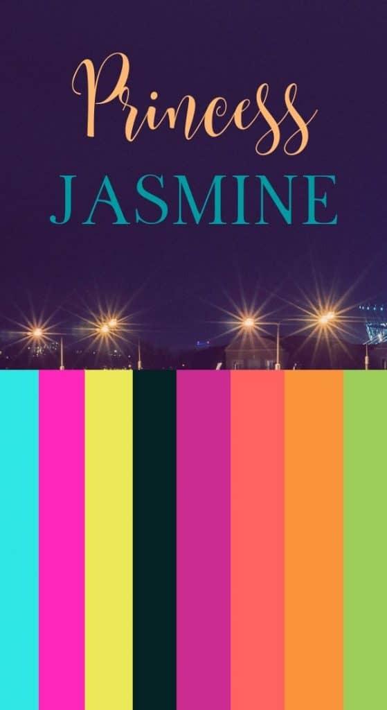 New Jasmine Color Scheme for Aladdin Party.