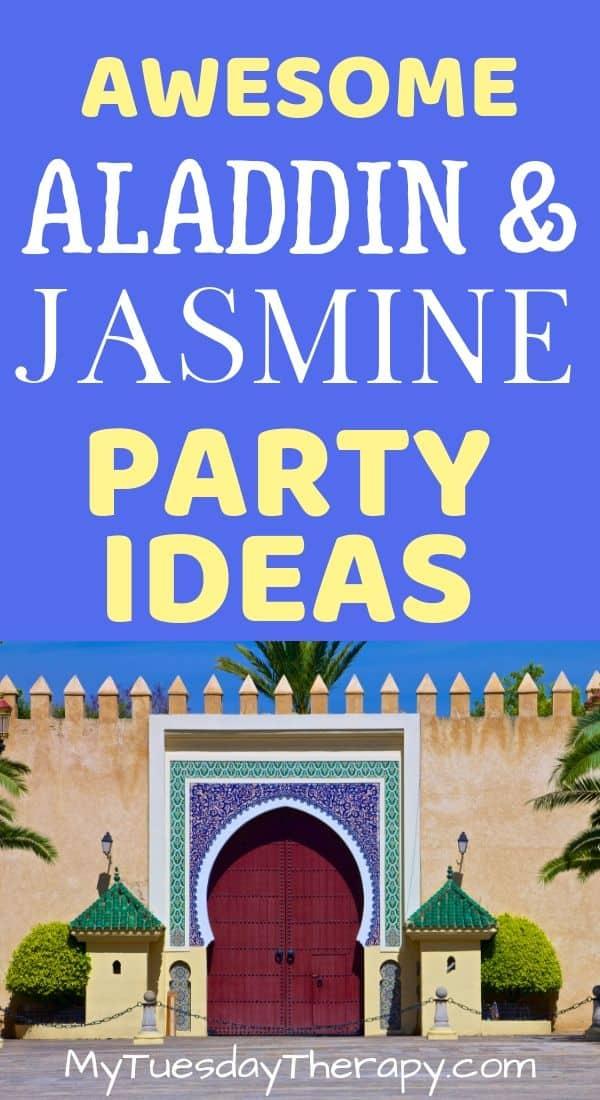 Aladdin and Jasmine Party Ideas