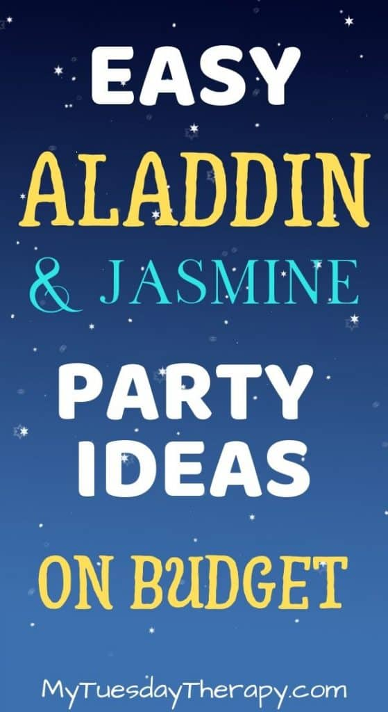 Easy Aladdin and Jasmine Party Ideas on Budget