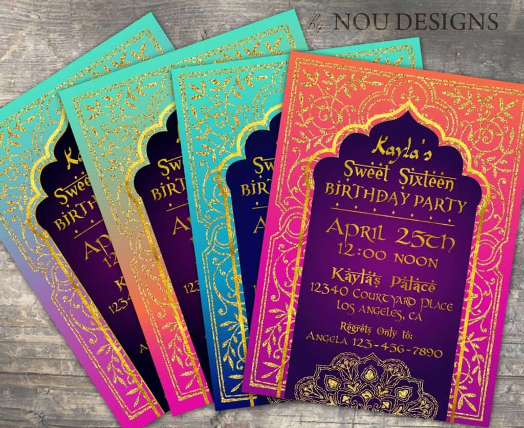 Arabian Night Party Invitation (noudesigns)