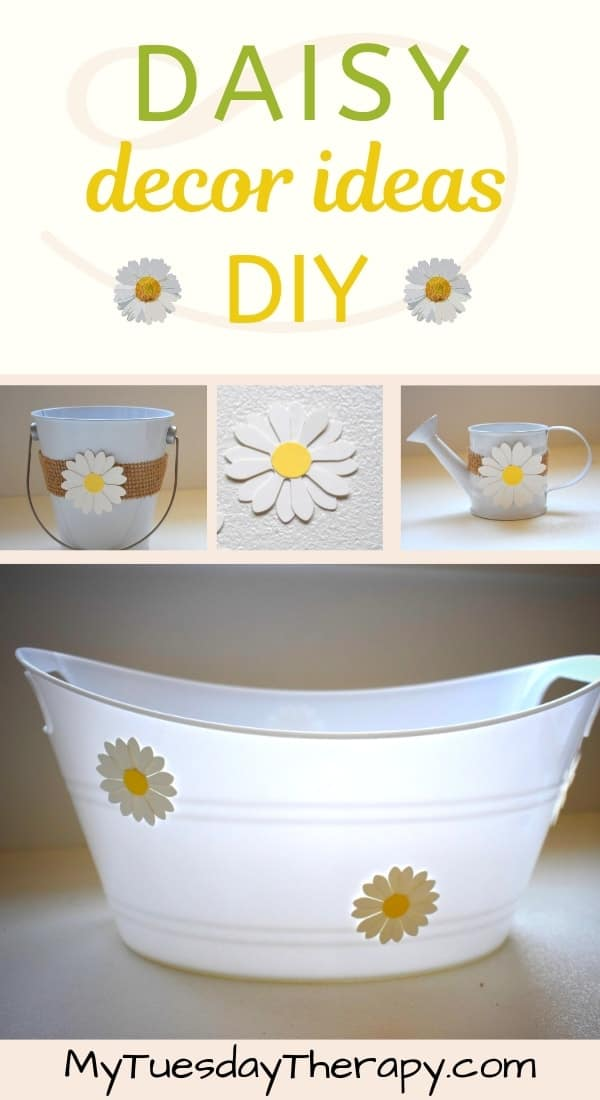 Daisy Serving Dish DIY. Daisy Themed Party.
