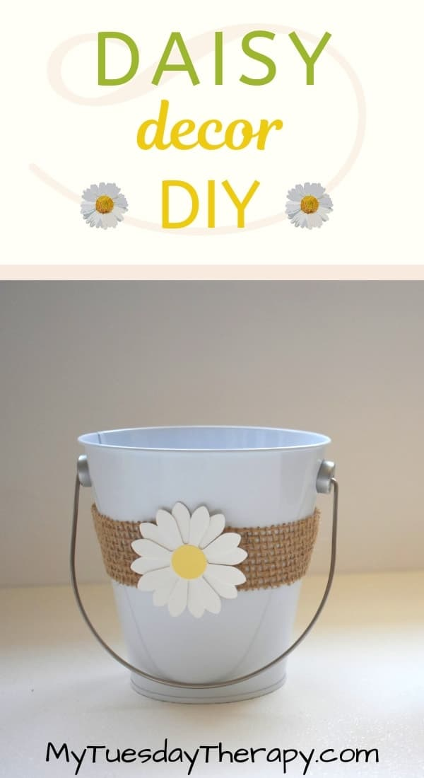 Rustic Daisy Bucket Decoration DIY.