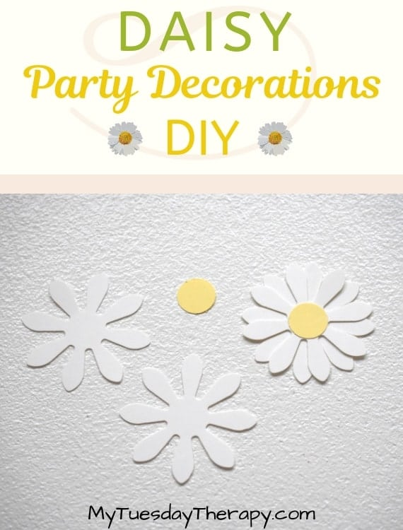 Daisy Party Decorations. Paper daisy.