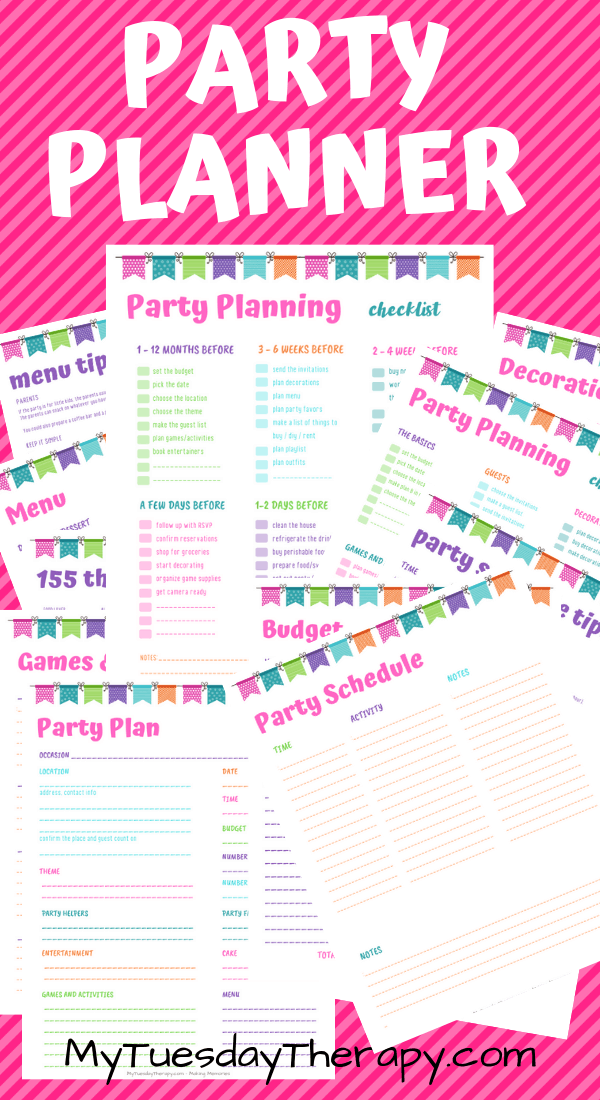photo about Party Planner Printable known as Free of charge Occasion Planner Printable (Would make bash developing tremendous exciting!)