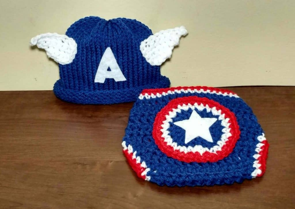 Captain America Baby Halloween Costume (hat characters)