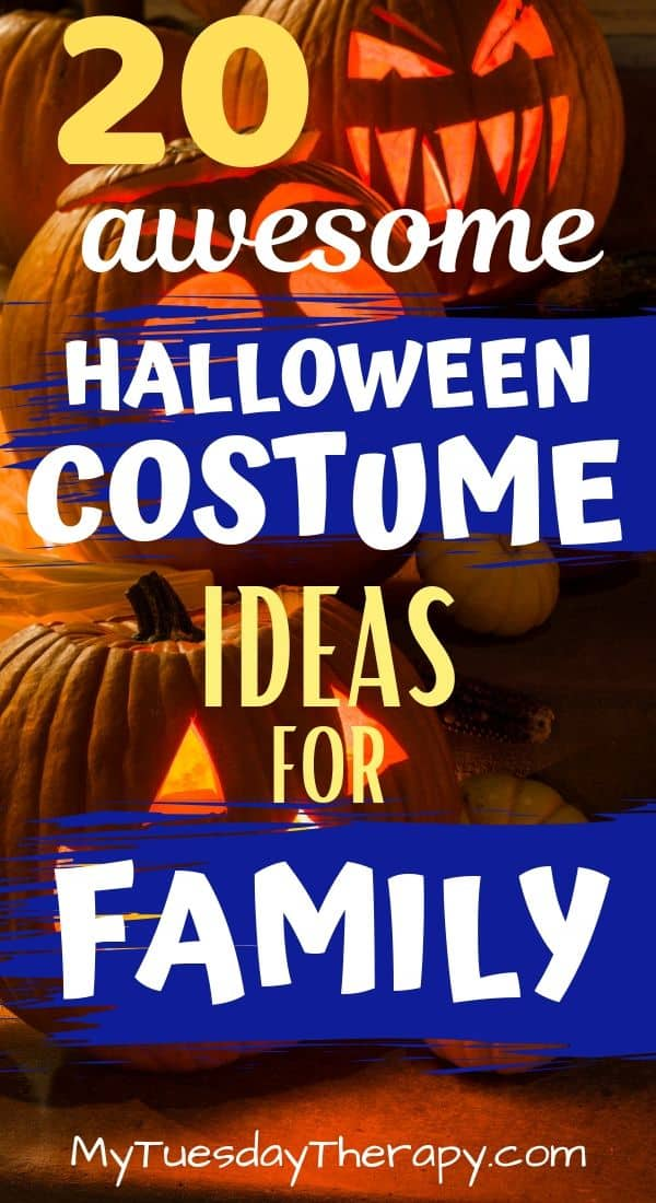 Halloween Costume Ideas for Family. Whether you have a family of 2, 3, 4, or 5+ you\'ll find cool Halloween costume ideas here for kids, mom, and dad.