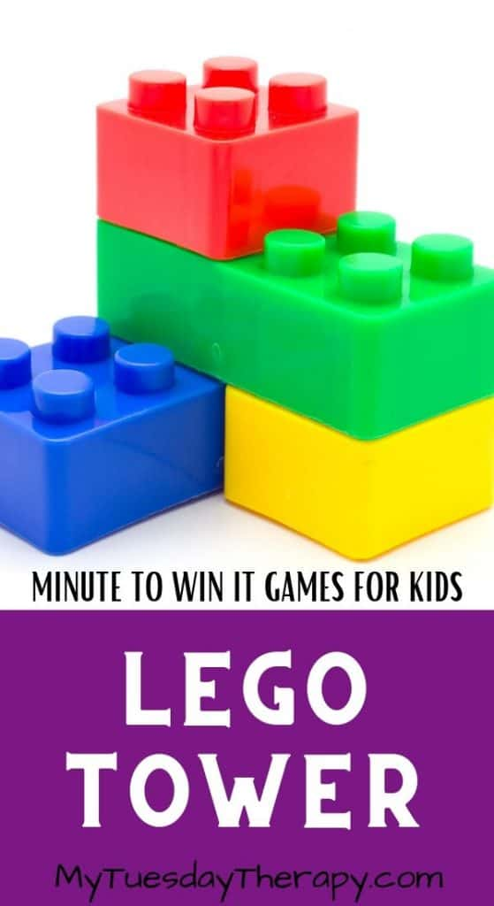 Lego Tower Minute To Win It Game for Kids