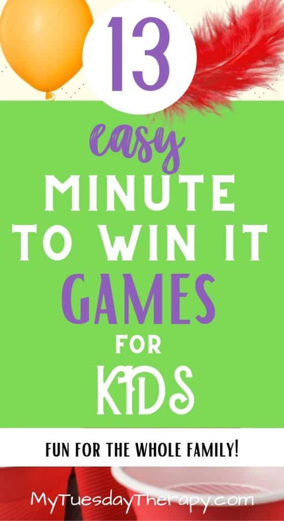 Easy Minute To Win It Games for Kids