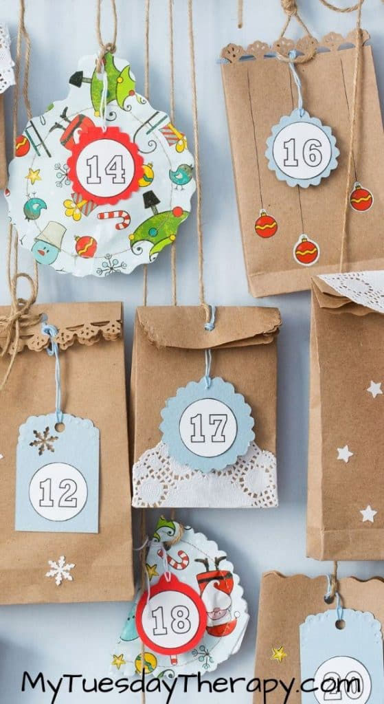 Easy DIY Advent Calendar Made With Brown Paper Bags