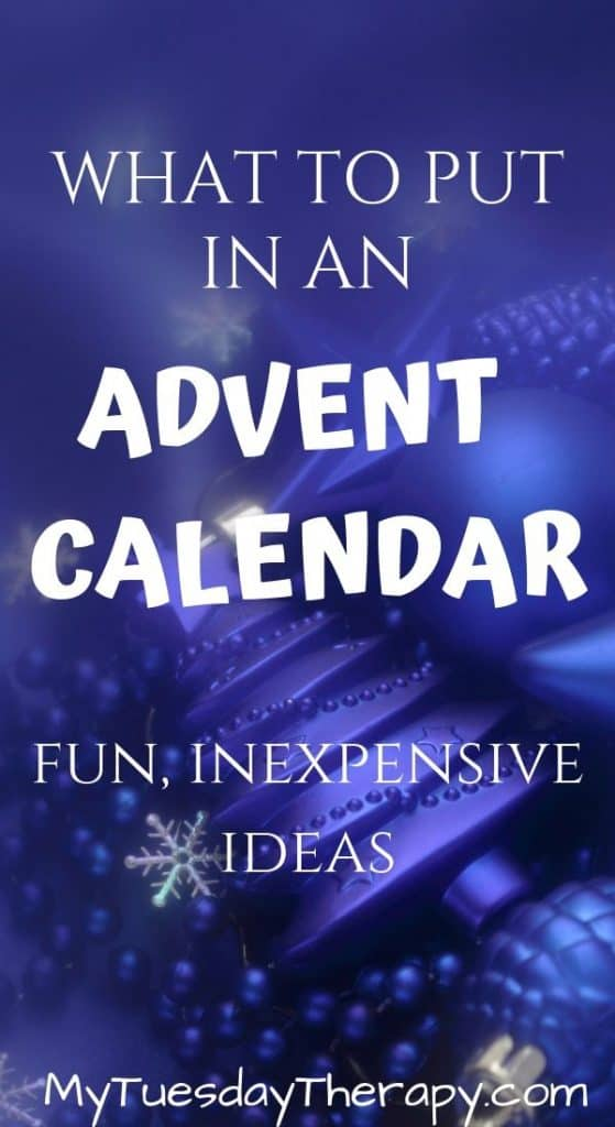 What To Put In An Advent Calendar