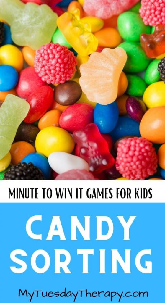 Candy Sorting Minute To Win It Game for Kids