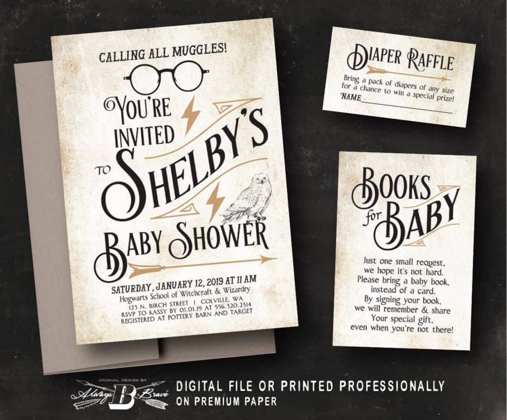 Harry Potter Baby Shower Invitation (alwaysbebrave)