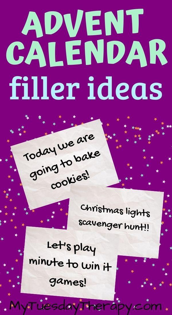 Activity ideas for advent calendar