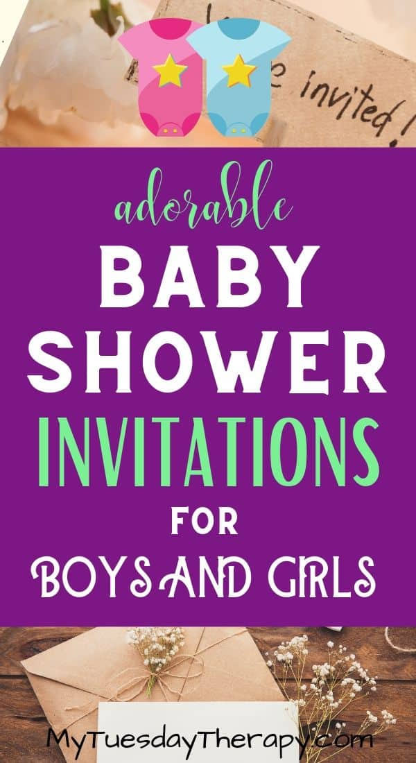 Baby Shower Invitations for Girls and Boys