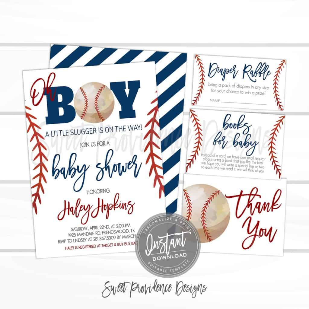 Baseball Baby Shower Invitation (sweet providence)