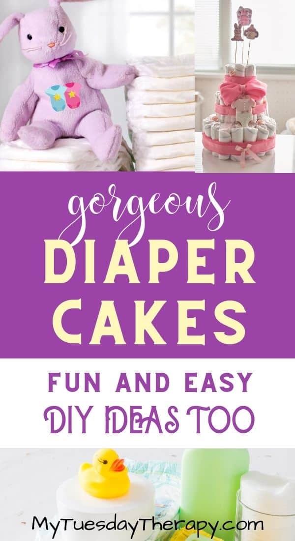 Easy Diaper Cake Ideas: DIY or buy.