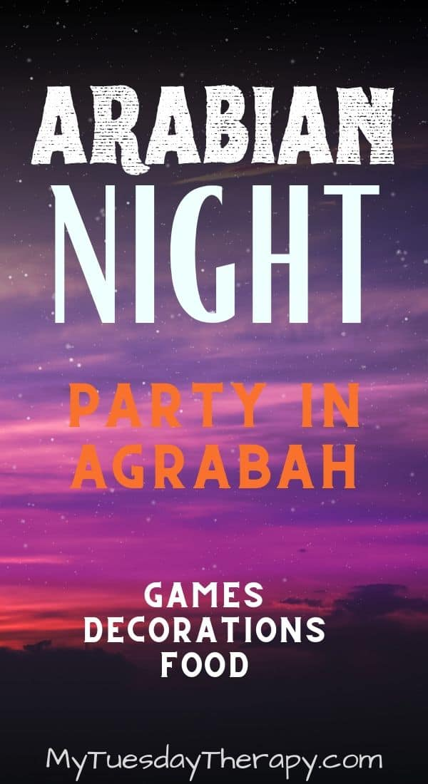 Arabian Night Party. Aladdin and Jasmine Party Ideas for Teens.